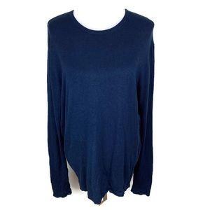 Zara Man long sleeve blue lightweight sweater XL